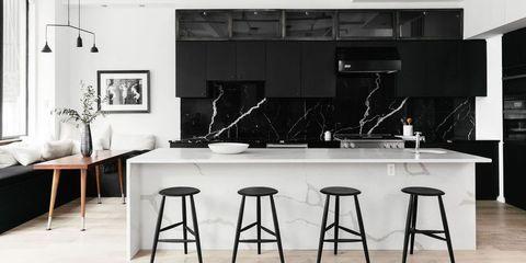 26 Gorgeous Black & White Kitchens - Ideas for Black & White Decor .