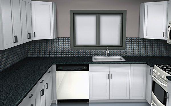black white small kitchen design   Black white kitchen decor .