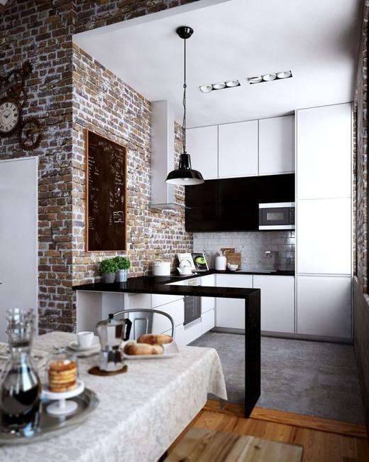 Black and White Kitchen Colors, Beautifully Balanced Modern Kitche