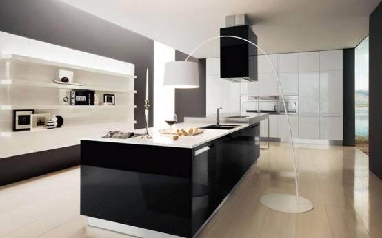 30 Black And White Kitchen Design Ideas - DigsDi