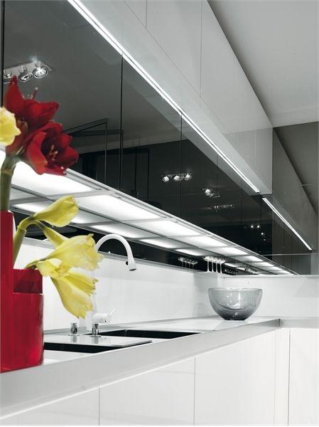 Black and White Kitchen Designs - Longline from Salvarani   Weisse .