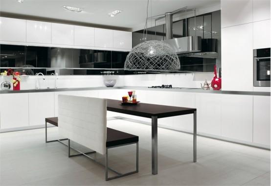 Black and White Kitchen Designs - Longline from Salvarani - DigsDi