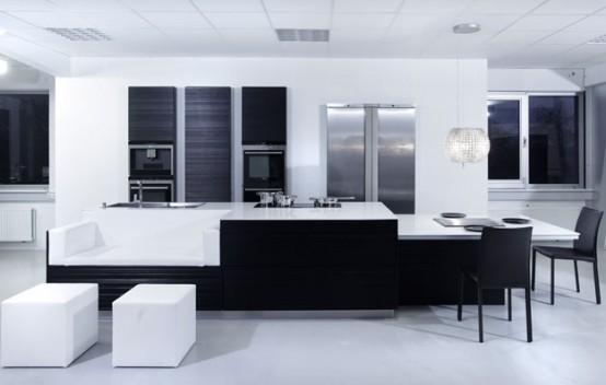 black and white kitchen furniture Archives - DigsDi