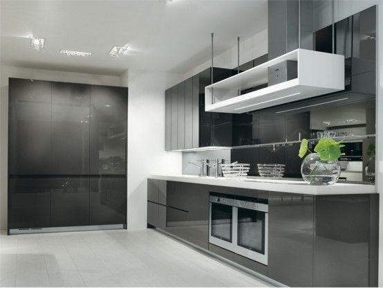 Gray white kitchen design longline salvarani x (With images .