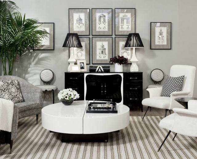 15 Black and White Living Room Ide