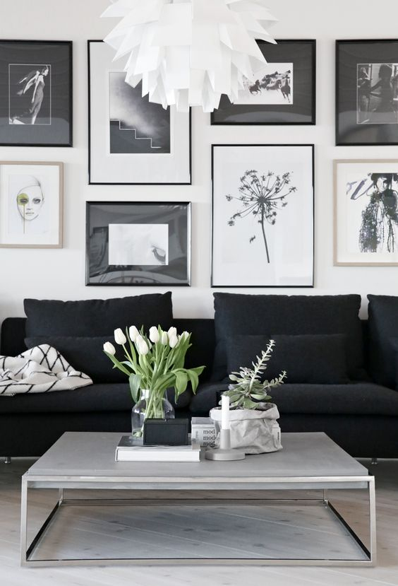 Classic: Black and White Living Room Ideas and Designs | Home Tree .
