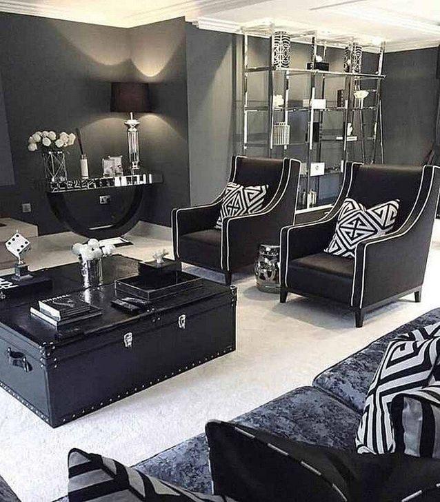 45 Cozy Black And White Living Room Design Ideas - DECORG