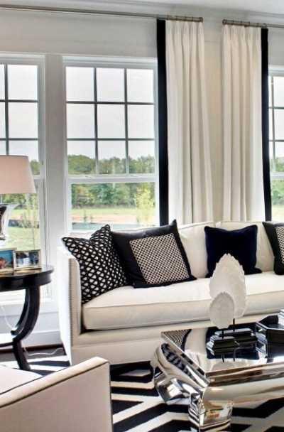 17 Black & White Living Room Decor Ideas | Sebring Design Bui