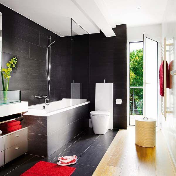 Black Bathroom Design Idea That Isn't Dark and Creepy | Diseño de .