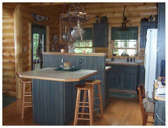Small Rustic Cabin Interior | For Sale: Beautiful Cabin on Black .