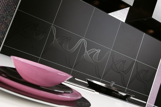 Sleek Contemporary Kitchen Design Ideas, with Matte Black Color .
