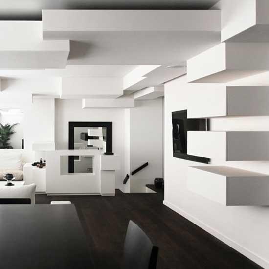 5 Modern Black & White Apartments with Amazing Interior Desig