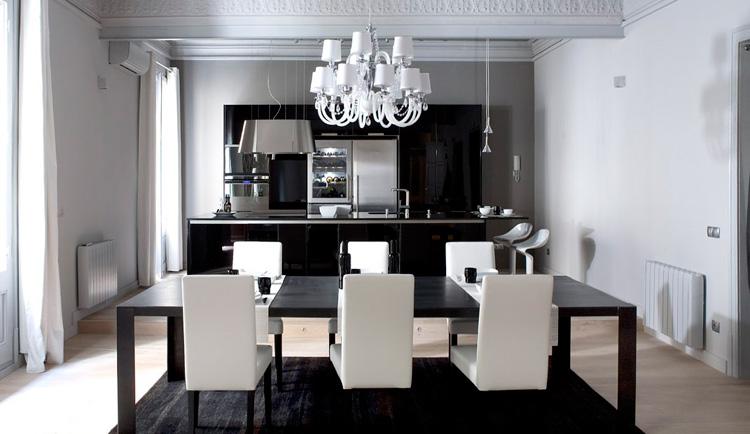 Strict Black and White Apartment Interior Design - Loft en el .