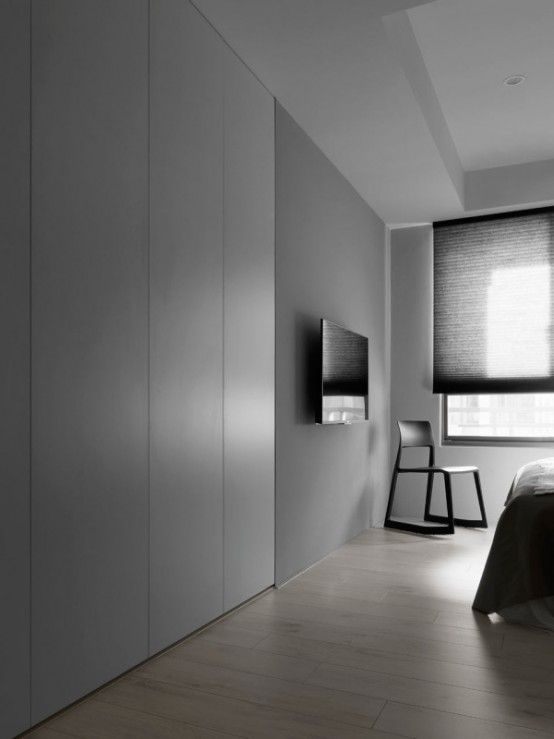 Black And White Minimalist Apartment With Pops Of Yellow | White .