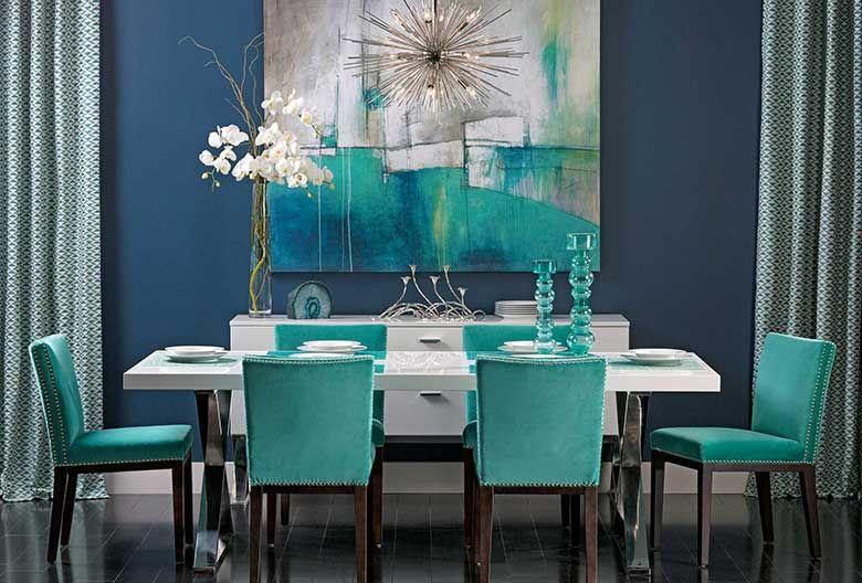 Turquoise Gem: Deep turquoise forme une paire de couleurs .