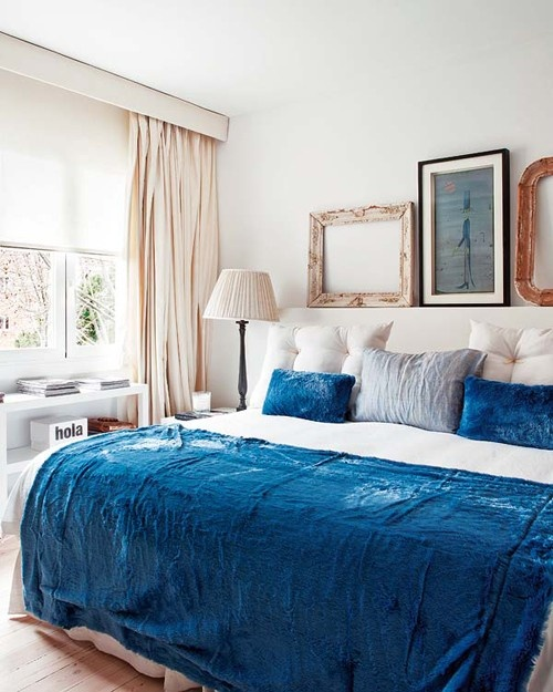 Blue And Turquoise Accents In Bedroom Designs – 39 Stylish Ideas .