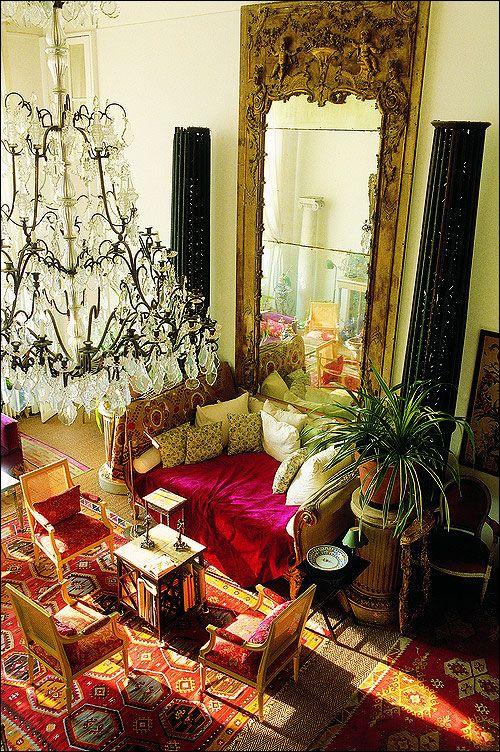 Loulou de la Falaise's flat | Interior design, Home decor .