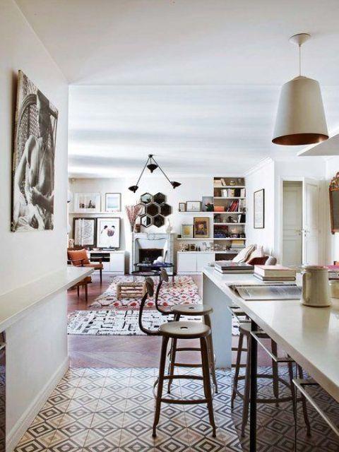 Boho Chic Parisian Apartment With A Personality - DigsDi