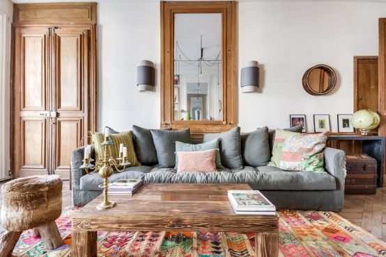 Lively Eclectic Paris Apartment With Boho Allure | DigsDigs .