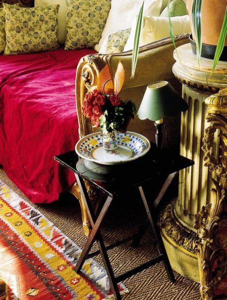 Designer Loulou de la Falaise's Parisian home oozes bohemian style .