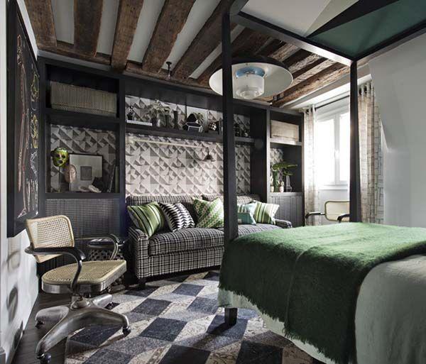 Un pied à terre à Paris | Home bedroom, Interior design bedroom .
