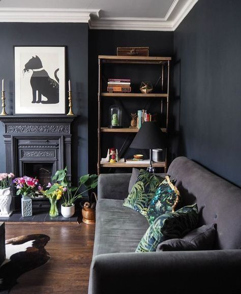 Be bold and confident with your interior and use darker colours .