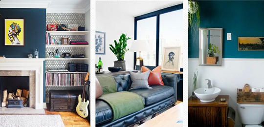 Masculine Interior and Decorating Inspiration with Colo