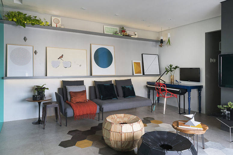 Contemporary Masculine Apartment With Bold Greens - DigsDi