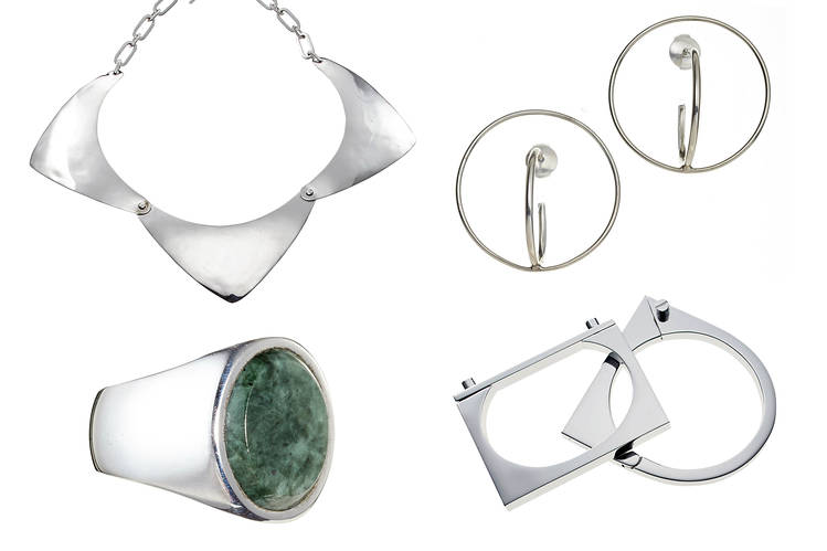 Sleek Silver Jewelry for the Corner Office - W