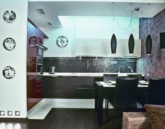 Extremely Modern Apartment Interior In Dark Hues - DigsDi