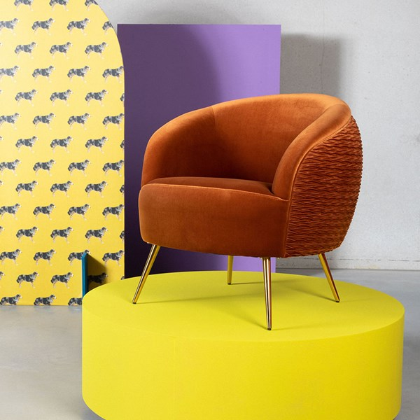 Bold Monkey So Curvy Lounge Chair - Orange   Eclectic furniture .