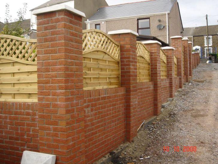 Beauteous Brick Wall With Fence Panels #10 Brick Wall Panels .