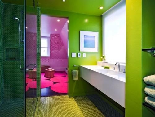 43 Bright And Colorful Bathroom Design Ideas - DigsDi