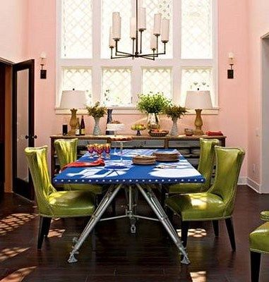 30 Bright And Colorful Dining Room Design Ideas in 2020   Modern .