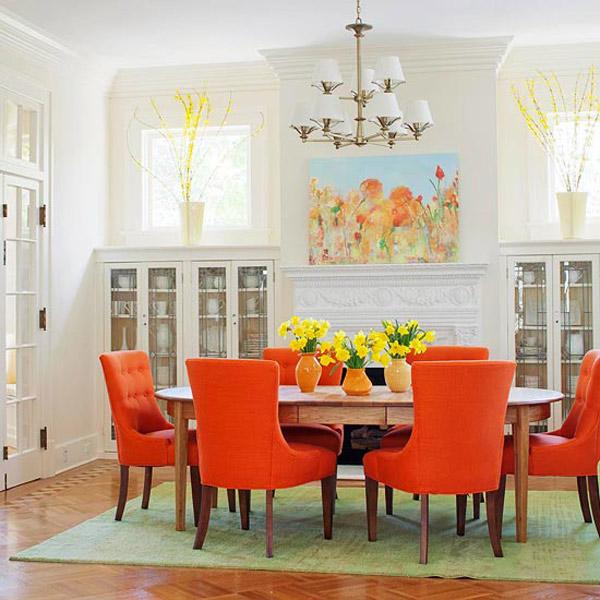 Colorful Dining Room Inspiration - Orange p