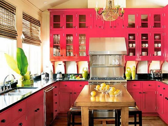 57 Bright And Colorful Kitchen Design Ideas - DigsDi