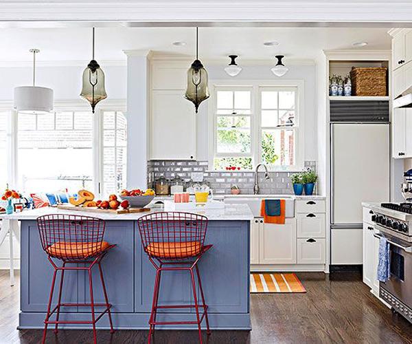 Easy bright colorful kitchen design ideas 38 for your interior .