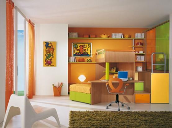 Bright Kids Room Ideas from Sangiorgio Mobili - DigsDi