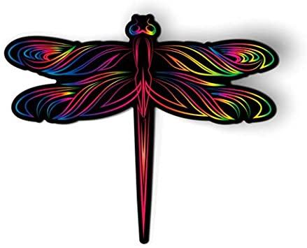 Amazon.com: AK Wall Art Dragonfly Bright Colorful - Magnet - Car .
