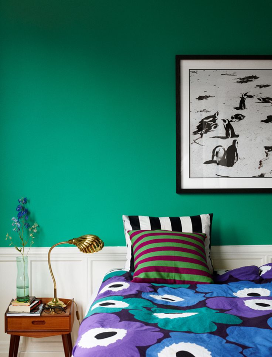 Look We Love: Bold Colors in the Bedroom   Bedroom inspirations .