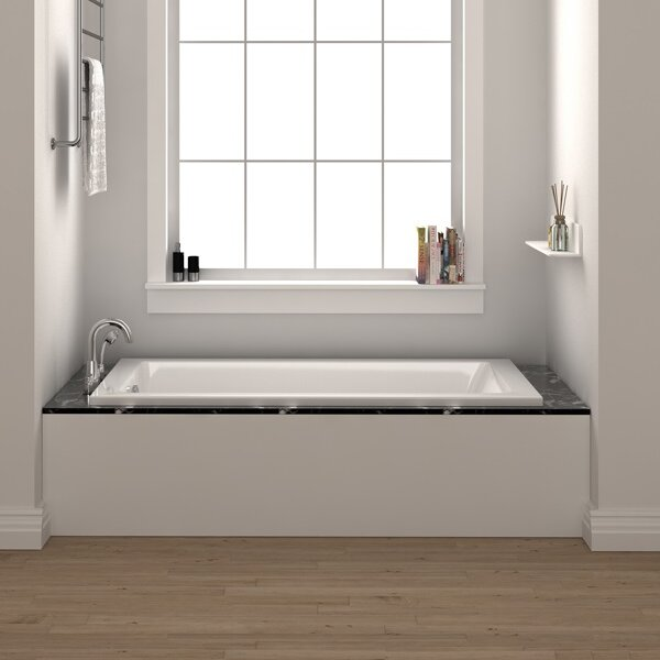 "Fine Fixtures 54"" x 30"" Drop In Soaking Fiberglass Bathtub ."