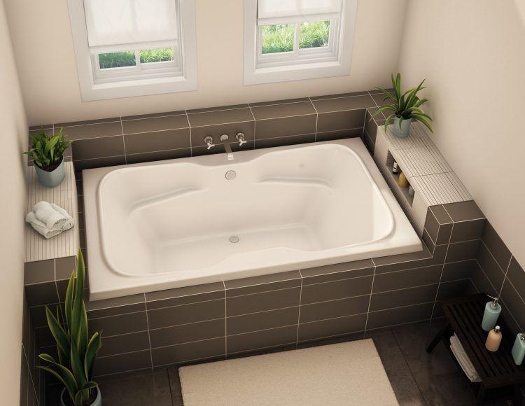20 Bathrooms With Beautiful Drop In Tub Designs | Drop in tub .