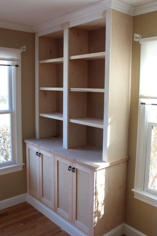 built in bookcase with doors » Custom Home Finish | Bookshelves .