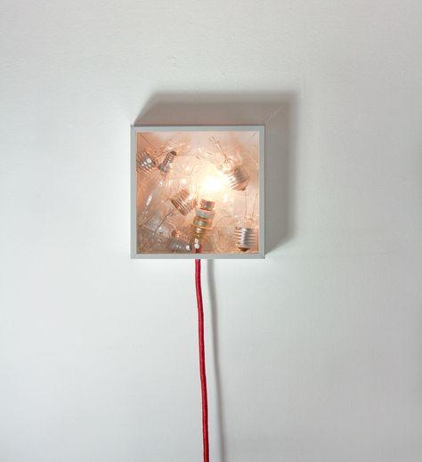 Bulbbox: A Lamp Made with a Box of Bulbs | Make a lamp, Bulb, Desi