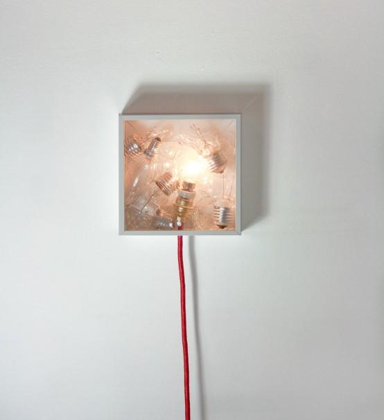 Bulbbox Lamp Made With A Box Of Bulbs - DigsDi