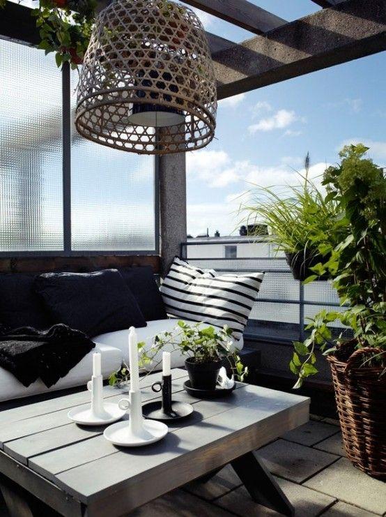 25 Calm Scandinavian Terrace Designs | Apartment balcony .