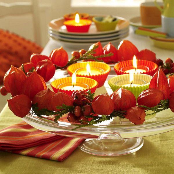 28 Candles Inspirations For Your Thanksgiving   Осенние украшения .
