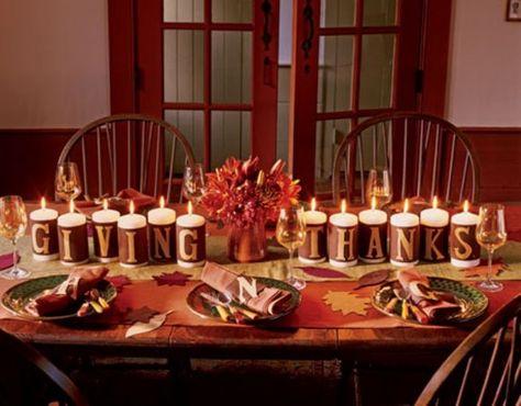 28 Candles Inspirations For Your Thanksgiving   Mesa de ação de .