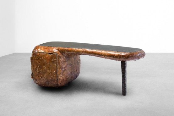 Carapace Furniture Collection With Hard Metal Exterior - DigsDi