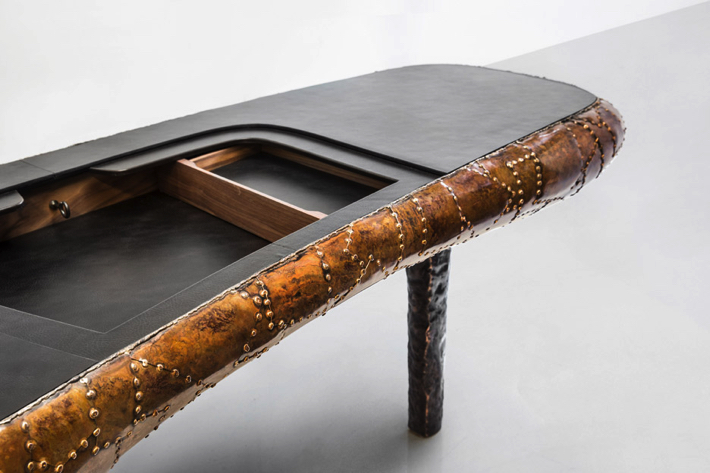 Maarten Baas Exhibits Shell Inspired Furniture Pieces in New York .